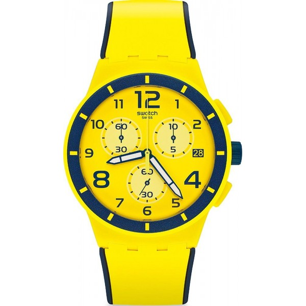Buy Swatch Unisex Watch Chrono Plastic Solleore SUSJ401