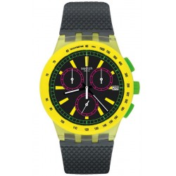 Swatch Unisex Watch Chrono Plastic Yel-Lol SUSJ402
