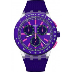 Buy Swatch Unisex Watch Chrono Plastic Purp-Lol SUSK400
