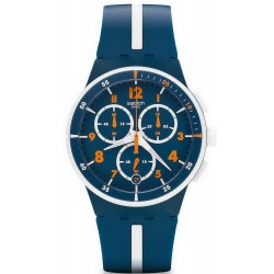 Swatch Men's Watch Chrono Plastic Whitespeed SUSN403