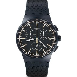 Swatch Men's Watch Chrono Plastic Meine Spur SUSN407