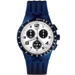Swatch Men's Watch Chrono Plastic Travel Choc SUSN408