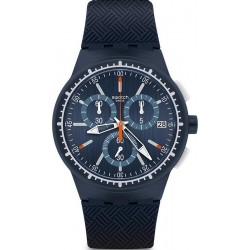 Swatch Men's Watch Chrono Plastic Gara In Blu SUSN410