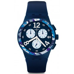 Swatch Men's Watch Chrono Plastic Camoblu SUSN414