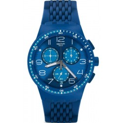 Swatch Unisex Watch Chrono Plastic Triple Blu SUSN415