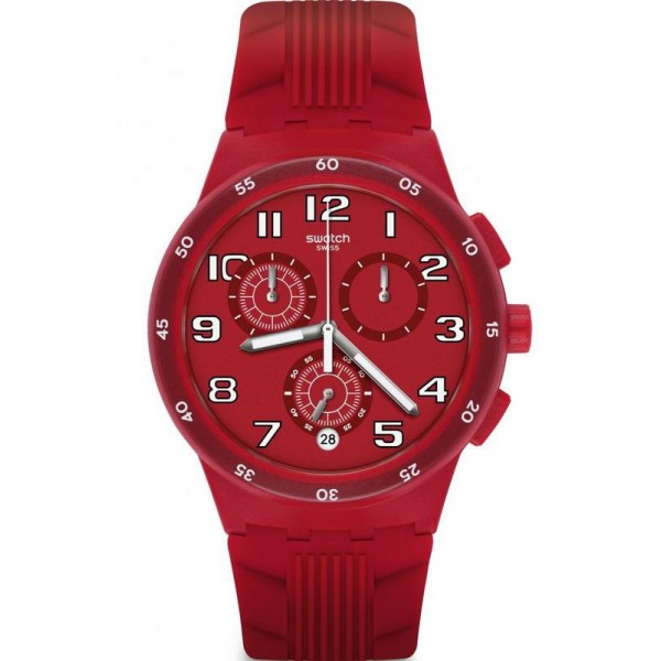 Buy Swatch Unisex Watch Chrono Plastic Red Step SUSR404