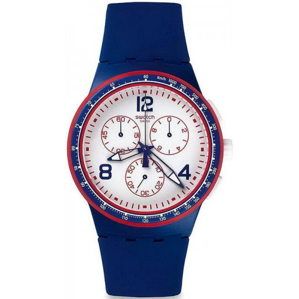 Buy Swatch Unisex Watch Chrono Plastic Fast Server SUSZ100