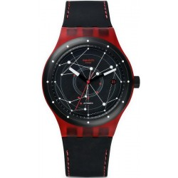 Swatch Unisex Watch Sistem51 Sistem Red Automatic SUTR400