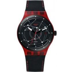 Buy Swatch Unisex Watch Sistem51 Sistem Red Automatic SUTR400
