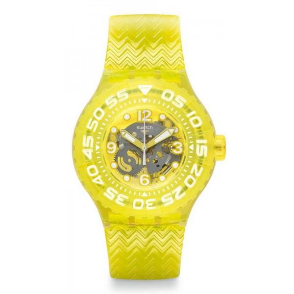 Buy Swatch Unisex Watch Scuba Libre Lemon Profond SUUJ101