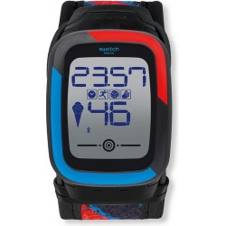 Swatch Men's Watch Digital Touch Zero One Funkzero SUVB101