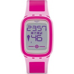 Swatch Women's Watch Digital Touch Zero One Pinkzero SUVP100