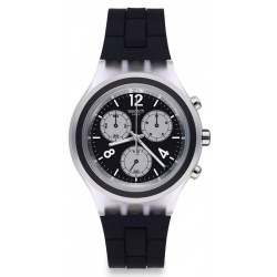 Buy Swatch Men's Watch Irony Diaphane Eleblack SVCK1004 Chronograph