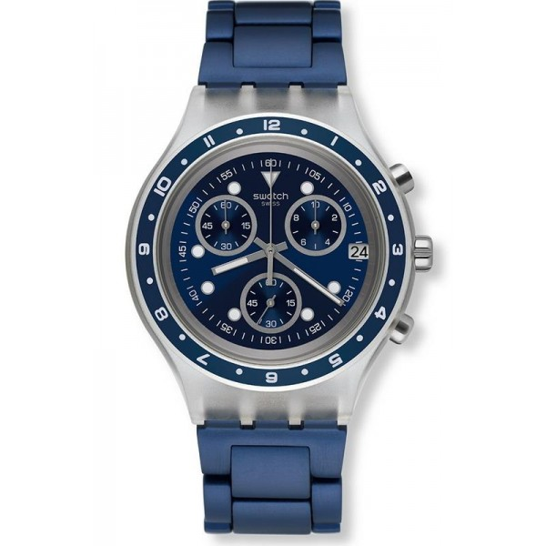 Buy Swatch Men's Watch Irony Diaphane Be Colorful SVCK4077AG Chronograph
