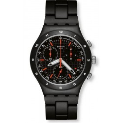 Swatch Men's Watch Irony Chrono Black Coat YCB4019AG