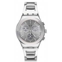 Swatch Women's Watch Irony Chrono Silverli YCS112G