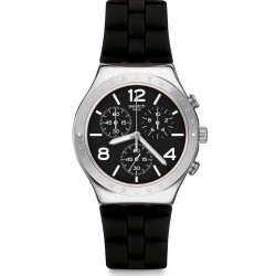 Buy Swatch Men's Watch Irony Chrono Noir De Bienne YCS116