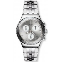 Swatch Women's Watch Irony Chrono Crystal Cascade YCS580G