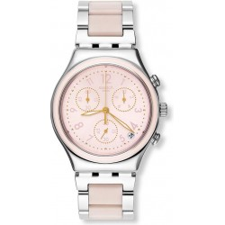 Swatch Women's Watch Irony Chrono Dreamnight Rose YCS588G