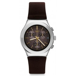 Buy Swatch Men's Watch Irony Chrono Brownflect YCS600