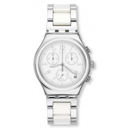 Swatch Women's Watch Irony Chrono Snow Dream YCS603G