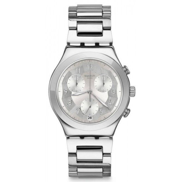 Buy Swatch Unisex Watch Irony Chrono Silver Ring YCS604G