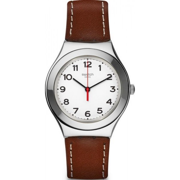 Buy Swatch Unisex Watch Irony Big Strictly Silver YGS131