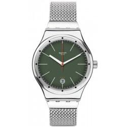 Swatch YIS407G Irony Sistem 51 Sistem Kaki Automatic Unisex Watch