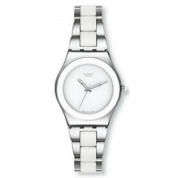 Swatch Women's Watch Irony Medium Tresor Blanc YLS141GC
