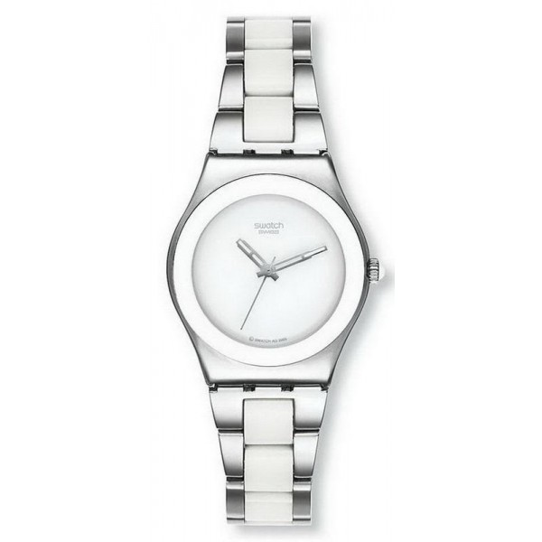 Buy Swatch Women's Watch Irony Medium Tresor Blanc YLS141GC