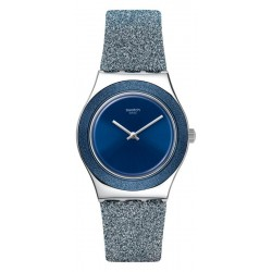 Swatch Women's Watch Irony Medium Blue Sparkle YLS221