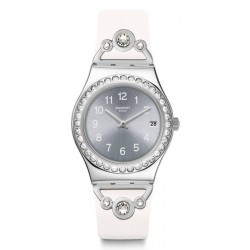 Swatch Women's Watch Irony Medium Pretty In White YLS463