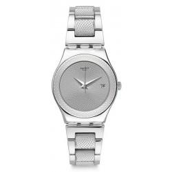 Swatch Women's Watch Irony Medium Classy Silver YLS466G