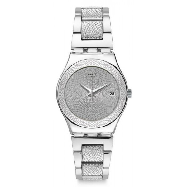 Buy Swatch Women's Watch Irony Medium Classy Silver YLS466G
