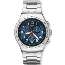 Swatch Men's Watch Irony Chrono Blue Maximus YOS455G