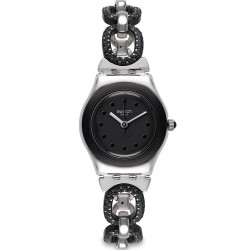 Swatch Women's Watch Irony Lady Black Glitter YSS293G