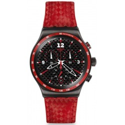 Swatch Men's Watch Irony Chrono Rosso Fuoco YVM401