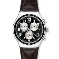 Swatch Men's Watch Irony Chrono Browned YVS400