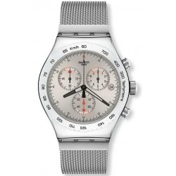 Swatch Men's Watch Irony Chrono Silverish YVS405G
