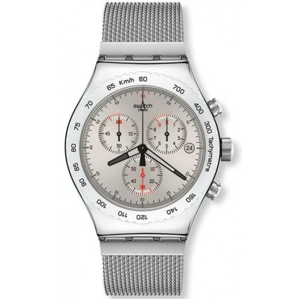 Buy Swatch Men's Watch Irony Chrono Silverish YVS405G