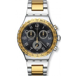 Swatch Men's Watch Irony Chrono Golden Youth YVS427G
