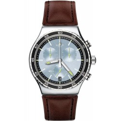 Swatch Men's Watch Irony Chrono Stock Xchange YVS429