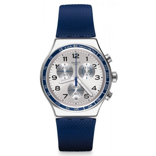 Buy Swatch Unisex Watch Irony Chrono Frescoazul YVS439