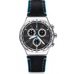 Swatch Men's Watch Irony Chrono Blue Details YVS442