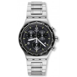 Buy Swatch Men's Watch Irony Chrono Night Flight YVS444G