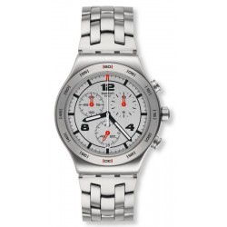 Swatch Unisex Watch Irony Chrono Silver Again YVS447G