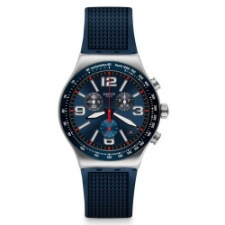 Swatch Men's Watch Irony Chrono Blue Grid YVS454