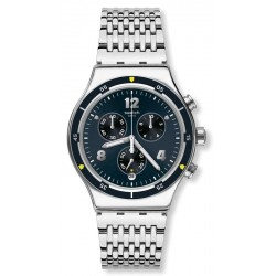 Swatch Men's Watch Irony Chrono Meshme YVS457G