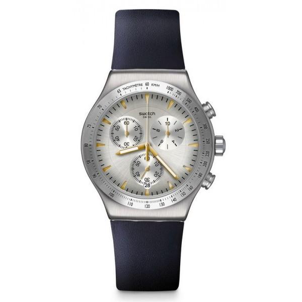 Buy Swatch Unisex Watch Irony Chrono Darkmeblue YVS460