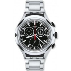 Swatch Men's Watch Irony Xlite Black Energy Chronograph YYS4000AG
